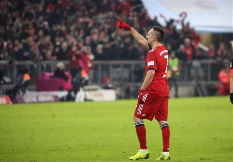 برتری سخت بایرن مونیخ مقابل لایپزیگ با گل 3 امتیازی ریبری