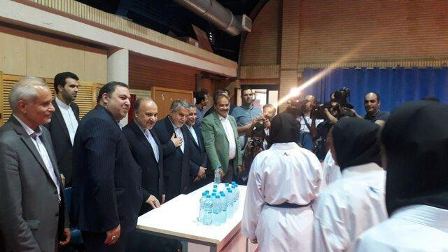 بازدید وزیر ورزش و رییس کمیته المپیک از اردوی تکواندو و کاراته