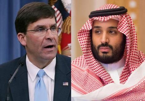 گفت وگوی تلفنی بن سلمان و مارک اسپر درباره حمله پهپادی به آرامکو