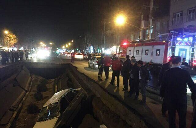خبرنگاران 6 مصدوم در حادثه فرونشست زمین در تبریز