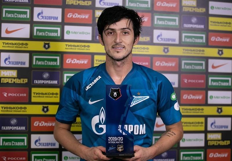 سردار آزمون: از نخستین هت تریکم در فوتبال روسیه خوشحالم