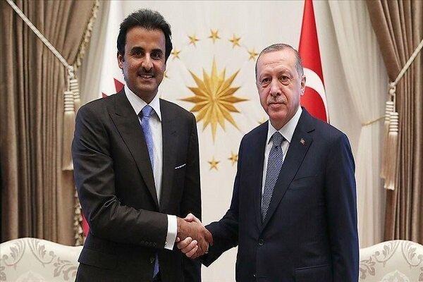 گفتگوی تلفنی اردوغان و امیر قطر درباره مسائل منطقه ای