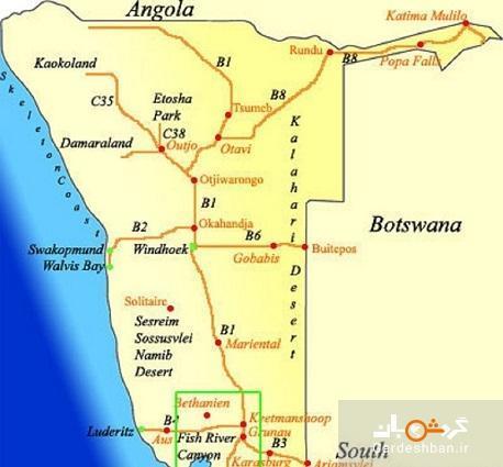 تنگه فیش ریور؛ دومین تنگه عظیم دنیا در آفریقا، عکس