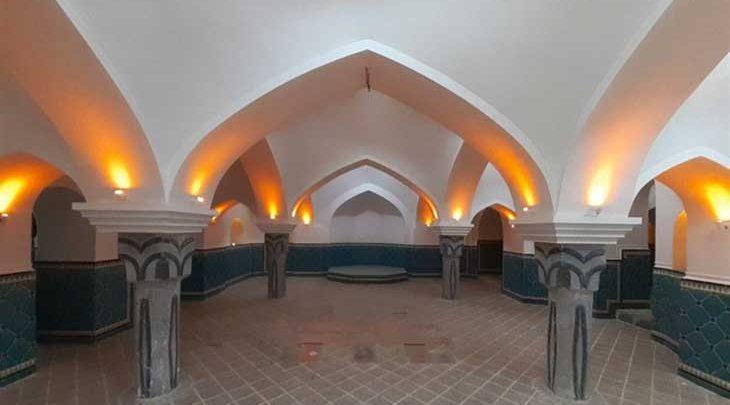 تبدیل حمام تاریخی بهشت گلپایگان به سفره خانه سنتی