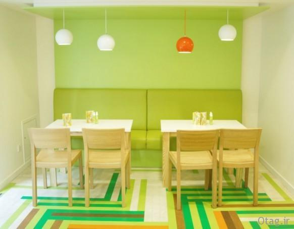 دکوراسیون داخلی و خارجی رستوران شیک و مدرن ، عکس 2015