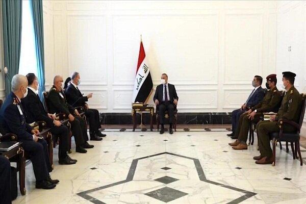 وزیر دفاع ترکیه با نخست وزیر عراق ملاقات کرد