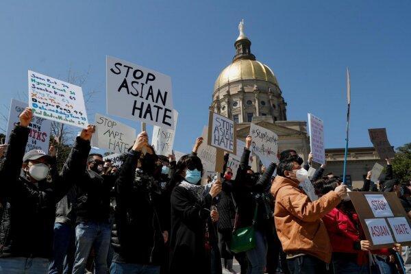 تظاهرات صدها نفر در آتلانتا در اعتراض به خشونتهای نژادی در آمریکا