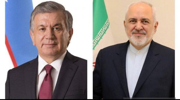 ظریف با رئیس جمهور ازبکستان ملاقات کرد