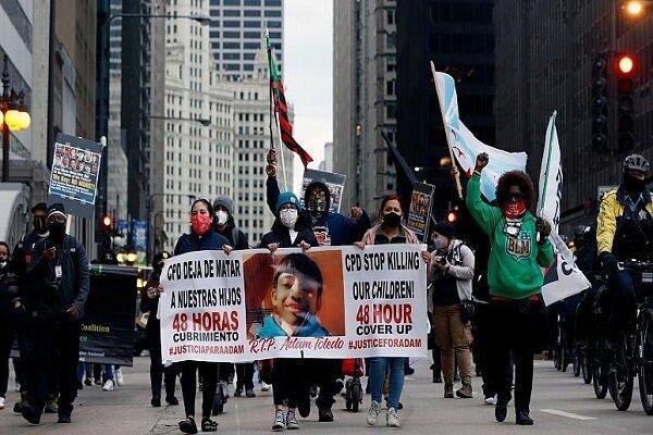 تیراندازی مرگبار پلیس شیکاگو به نوجوان 13 ساله، اعتراضات مردمی