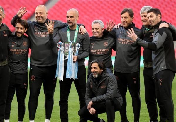 گواردیولا: کسب چهار قهرمانی متوالی در جام اتحادیه لذت بخش است، تیمم با شخصیت بازی کرد