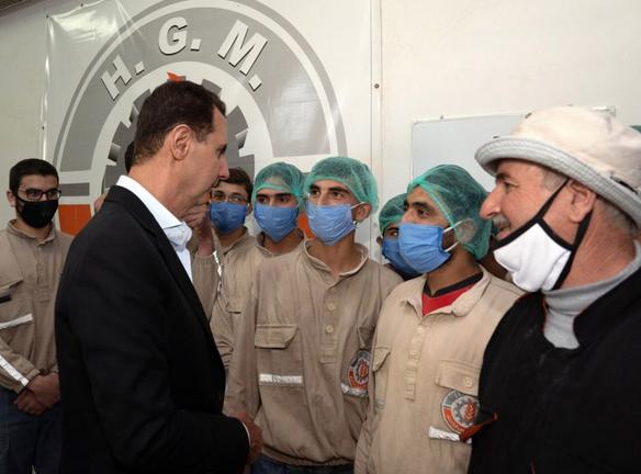 بشار اسد: در شرایط جنگ، کار و تولید دفاع از میهن است