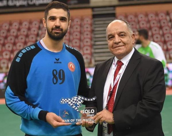 اولین برد العربی قطر در جام هندبال باشگاه های آسیا، برخورداری بهترین بازیکن زمین شد