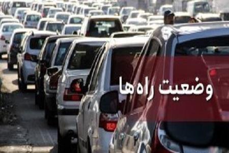 ترافیک سنگین در آزادراه کرج ، تهران